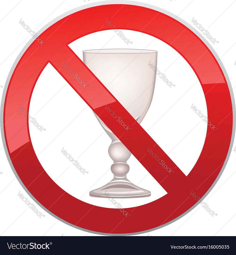 No alcohol drink sign prohibition icon ban liquor