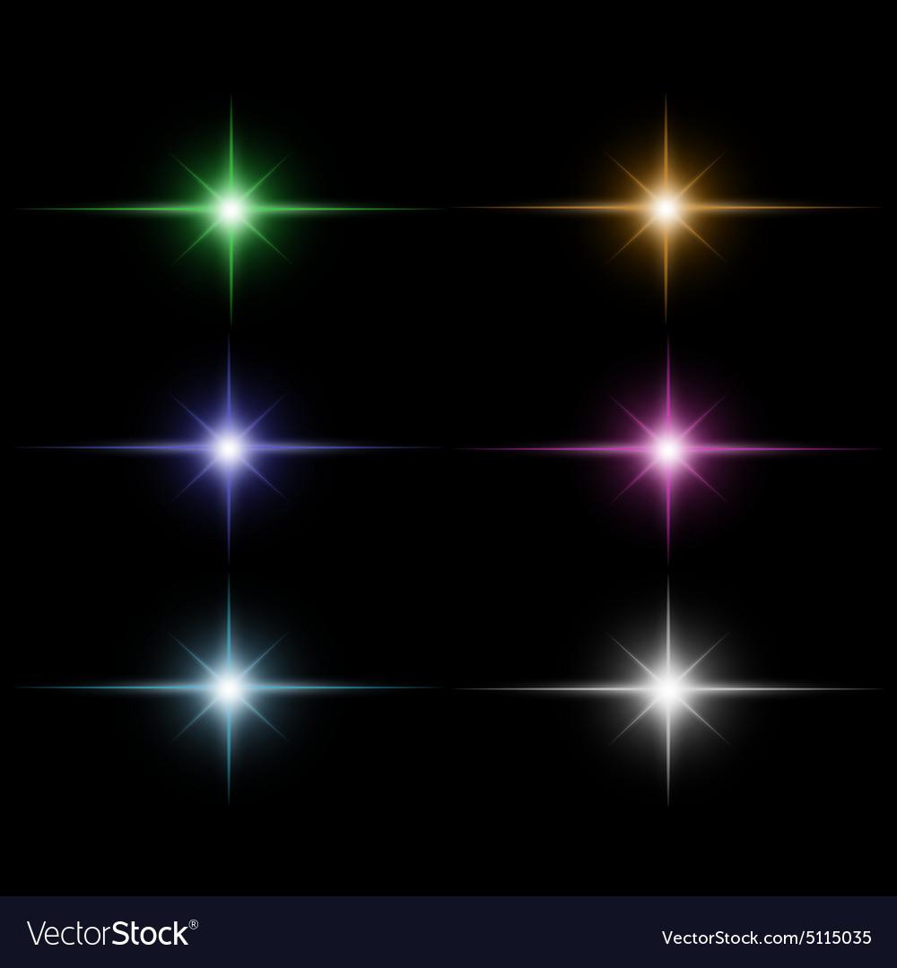 Set of Star burst vector image