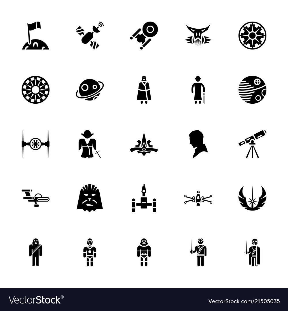 star wars pack royalty free vector image - vectorstock  vectorstock