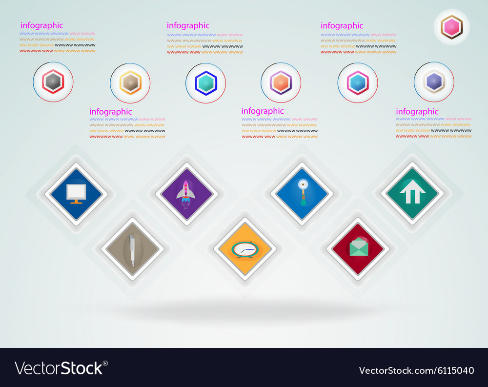 Abstract digital Infographic