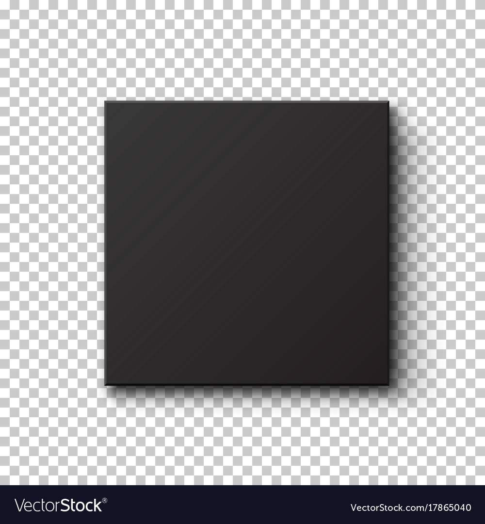 Black Box Isolated On Transparent Background Vector Image
