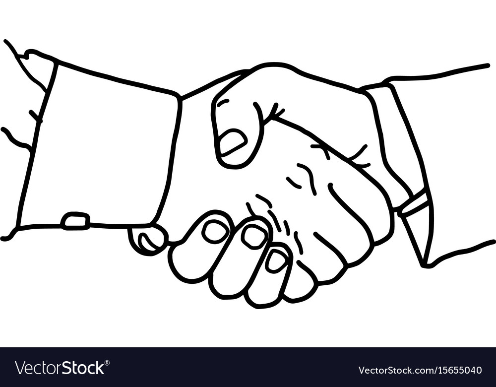 Business handshake - sketch hand