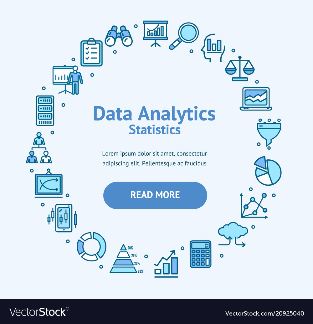 Data analytics statistics round design template