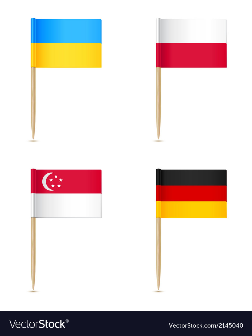 Flags toothpick icon