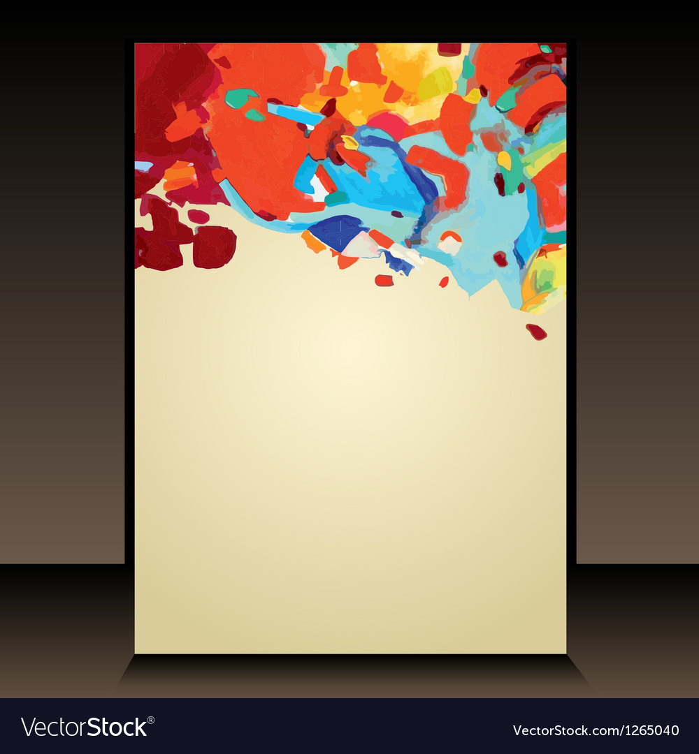 Hand draw abstract acrylic painting background