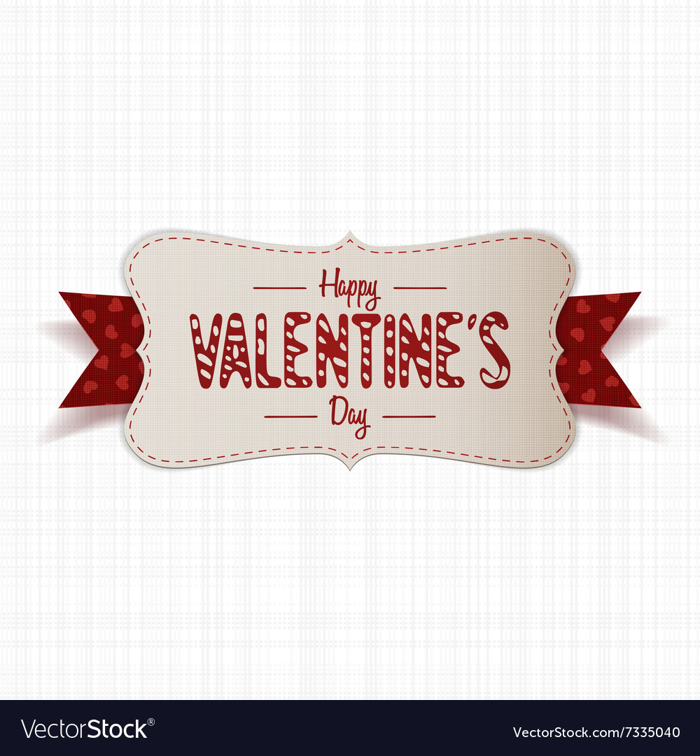 Realistic Happy Valentines Day greeting paper Card