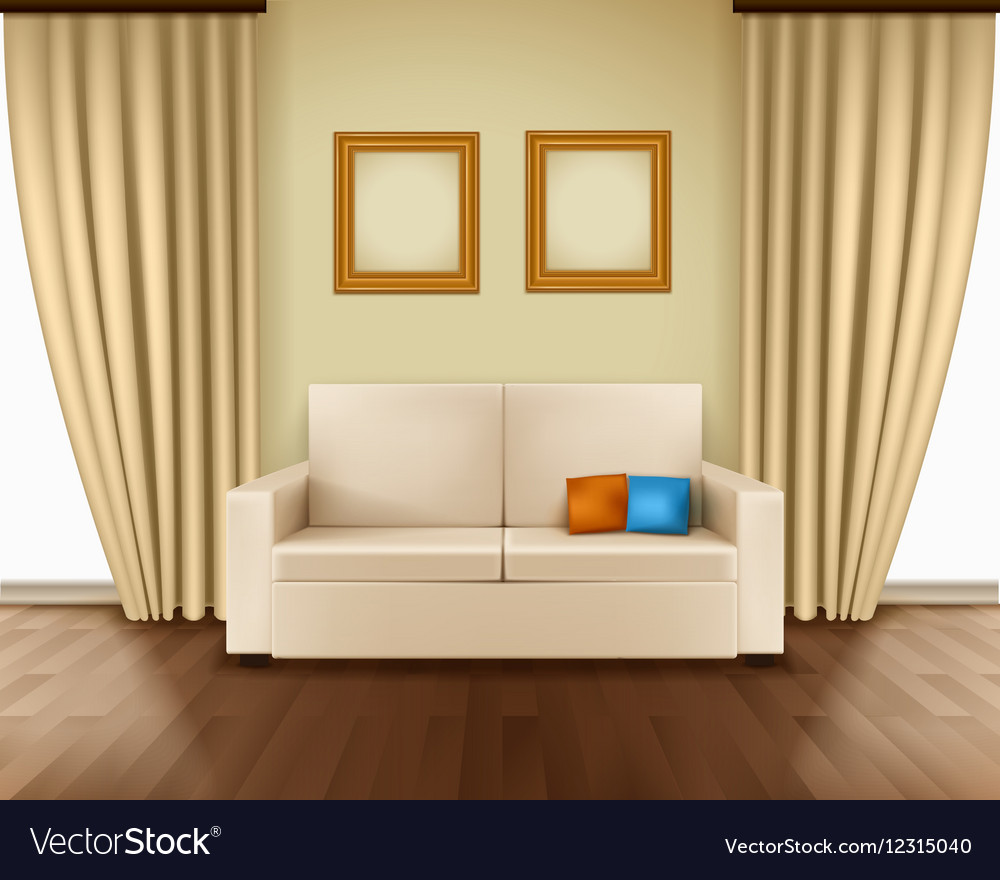 Realistic Room Interior vector image
