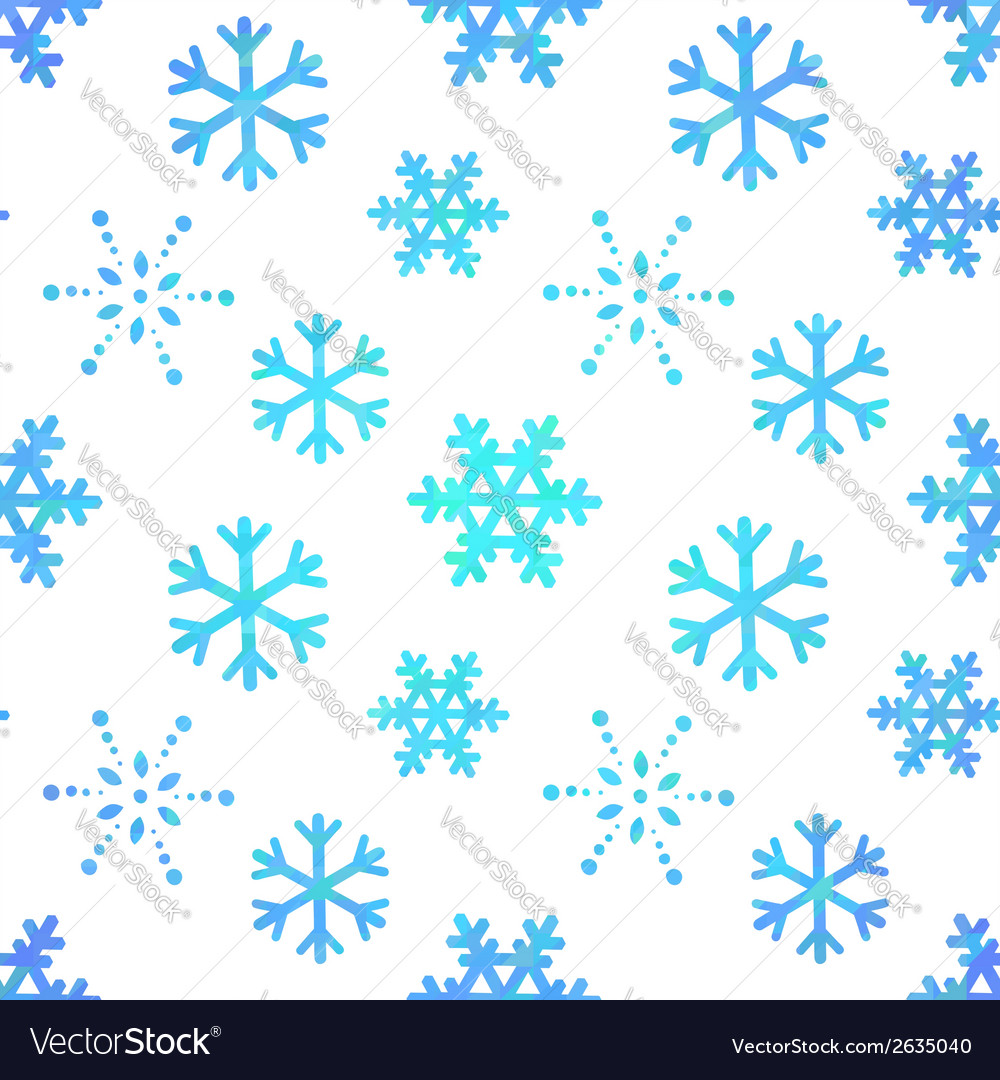 Snowflakes decorative seamless pattern