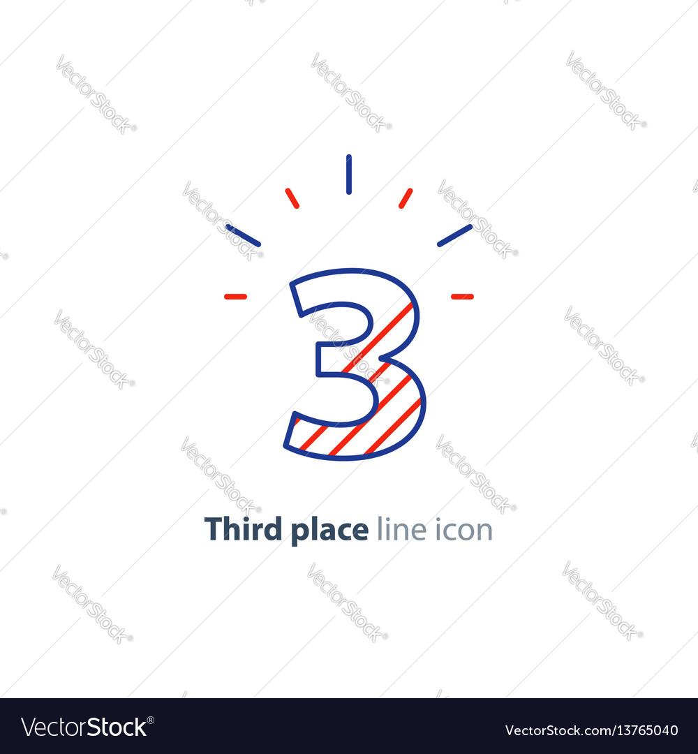 Third step concept achievement level linear icon vector image