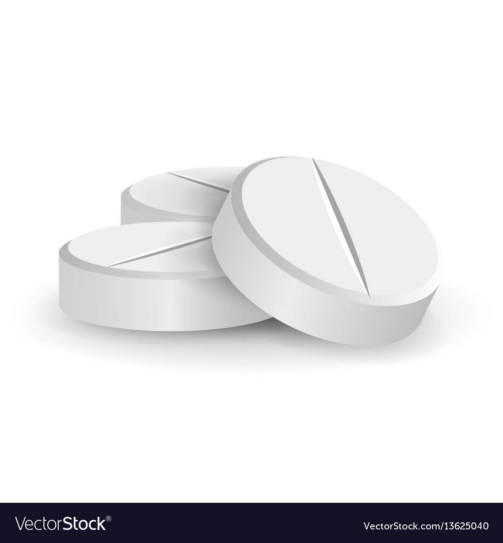 White 3d medical pills or drugs vector image