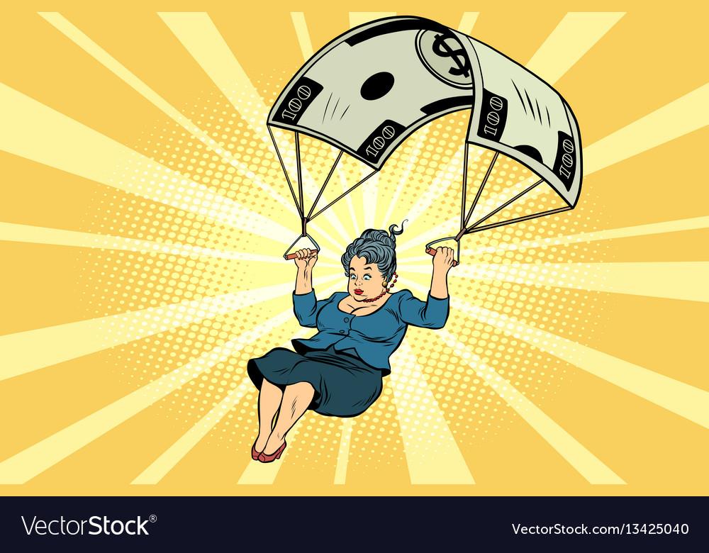 Woman golden parachute financial compensation in