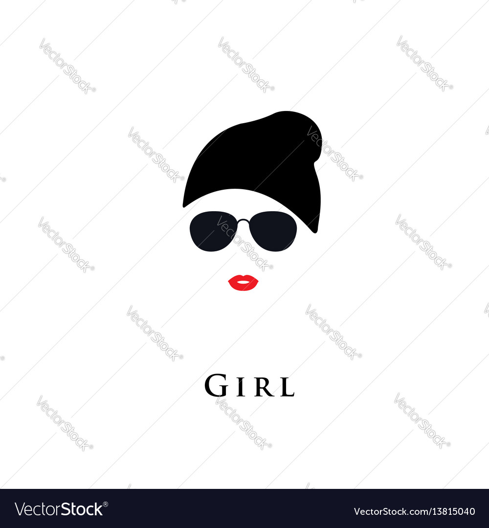 Woman in a modern hat vector image