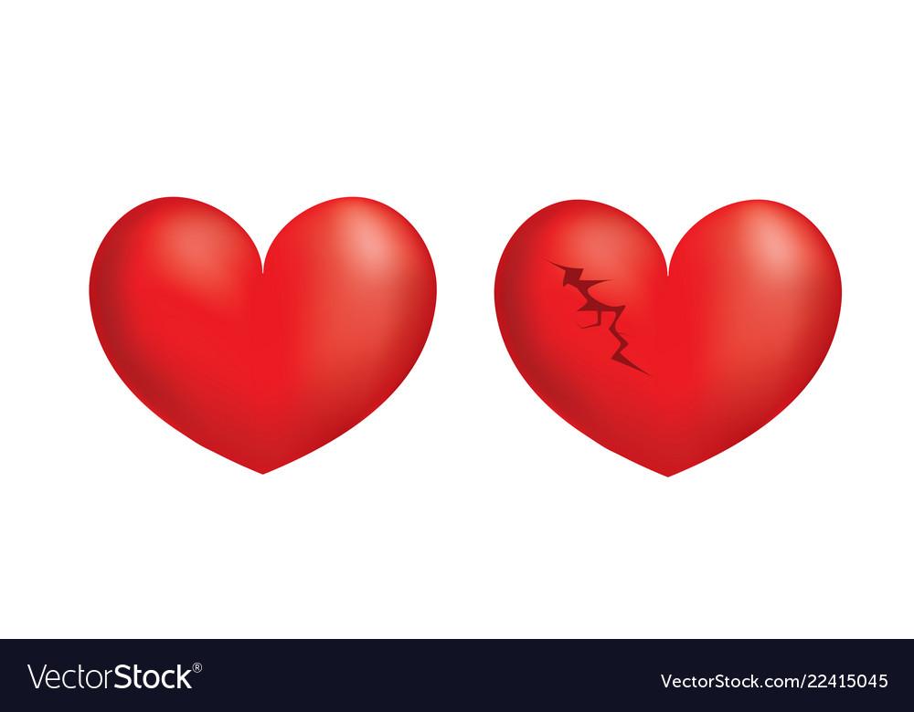 Broken 3d heart