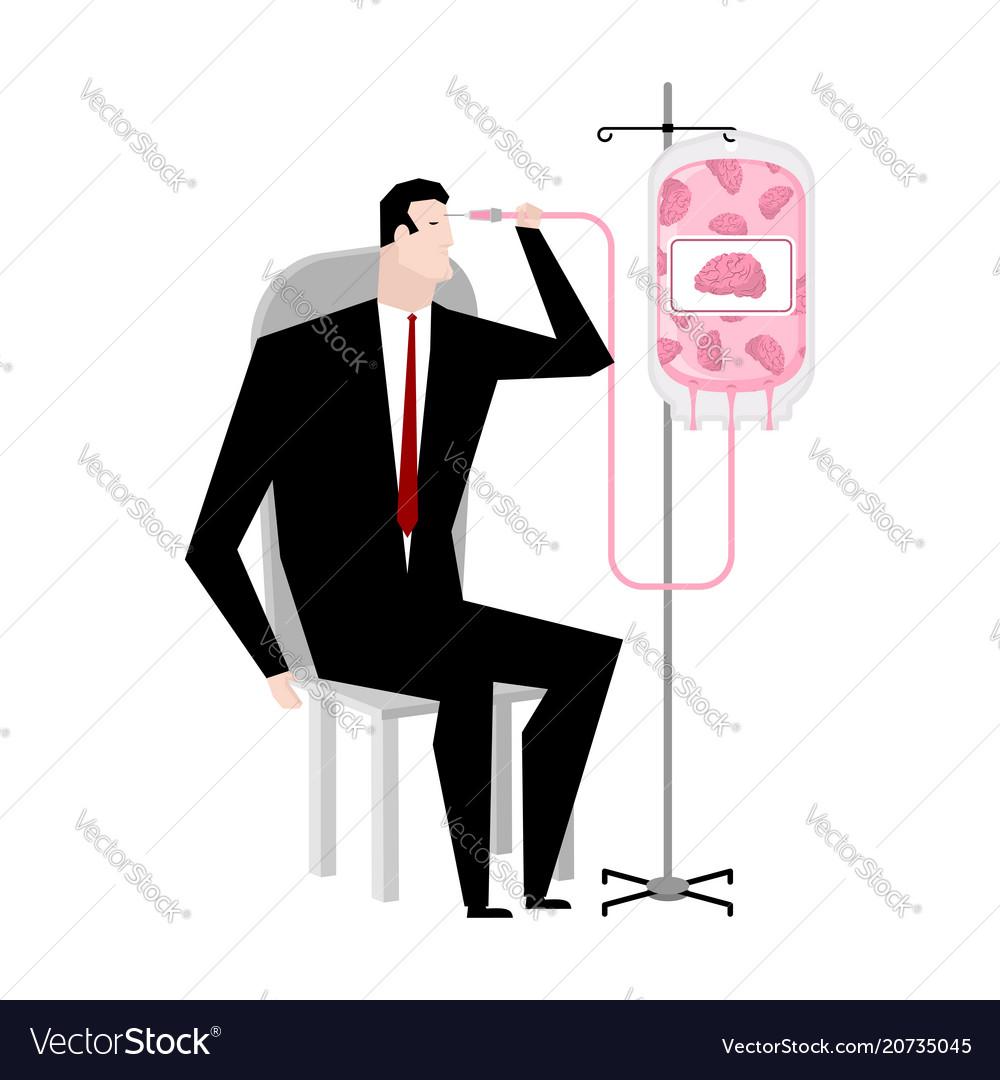 Businessman brain transfusion donation of human
