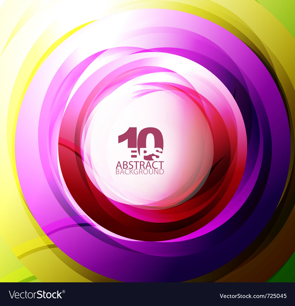 Colorful abstract swirl vector