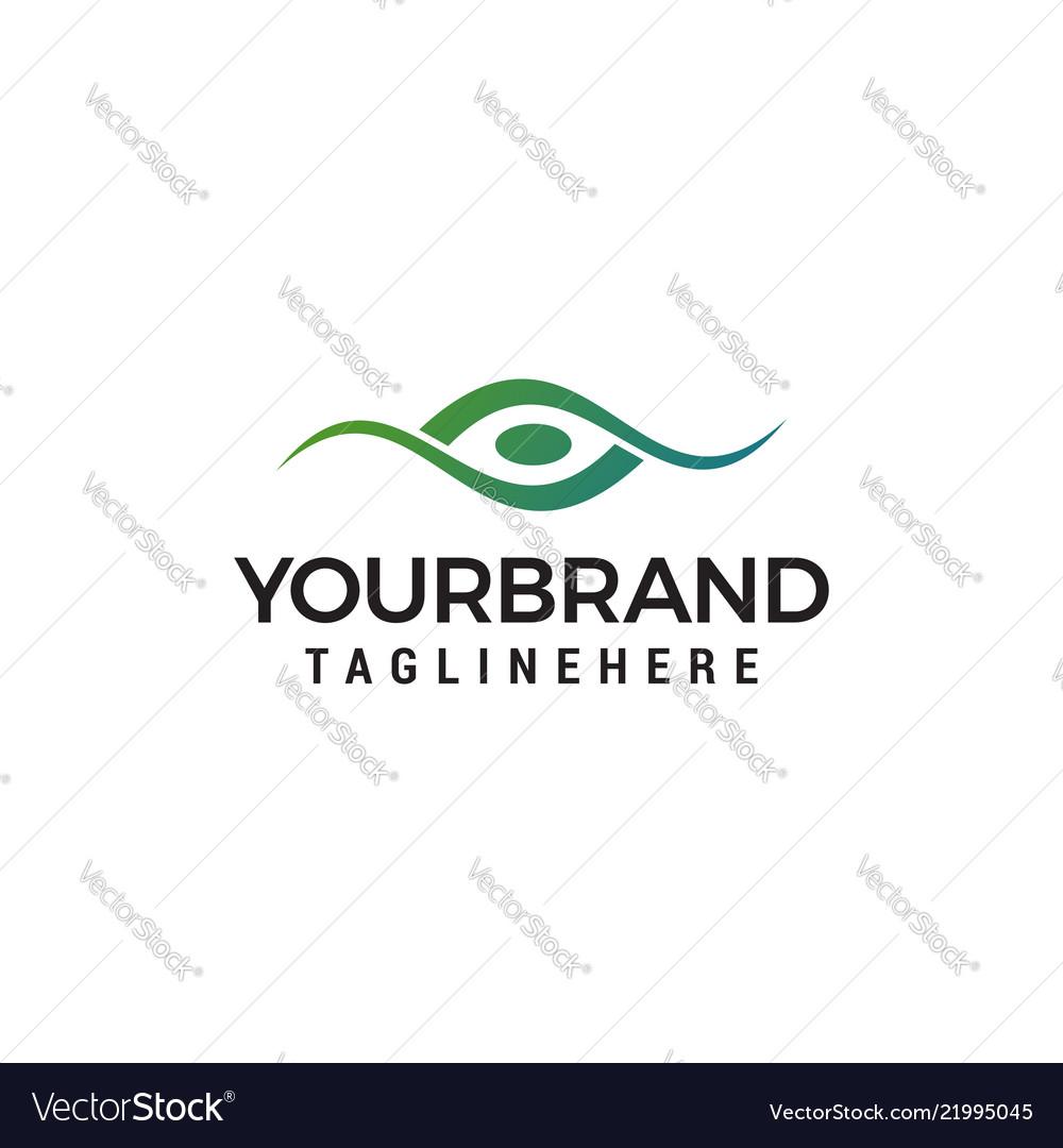 Creative eye concept logo design template