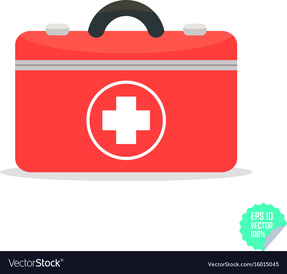 First aid kit flat icon health care flat
