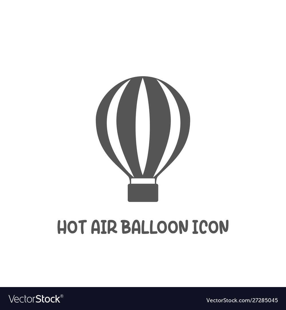 Hot air balloon icon simple flat style