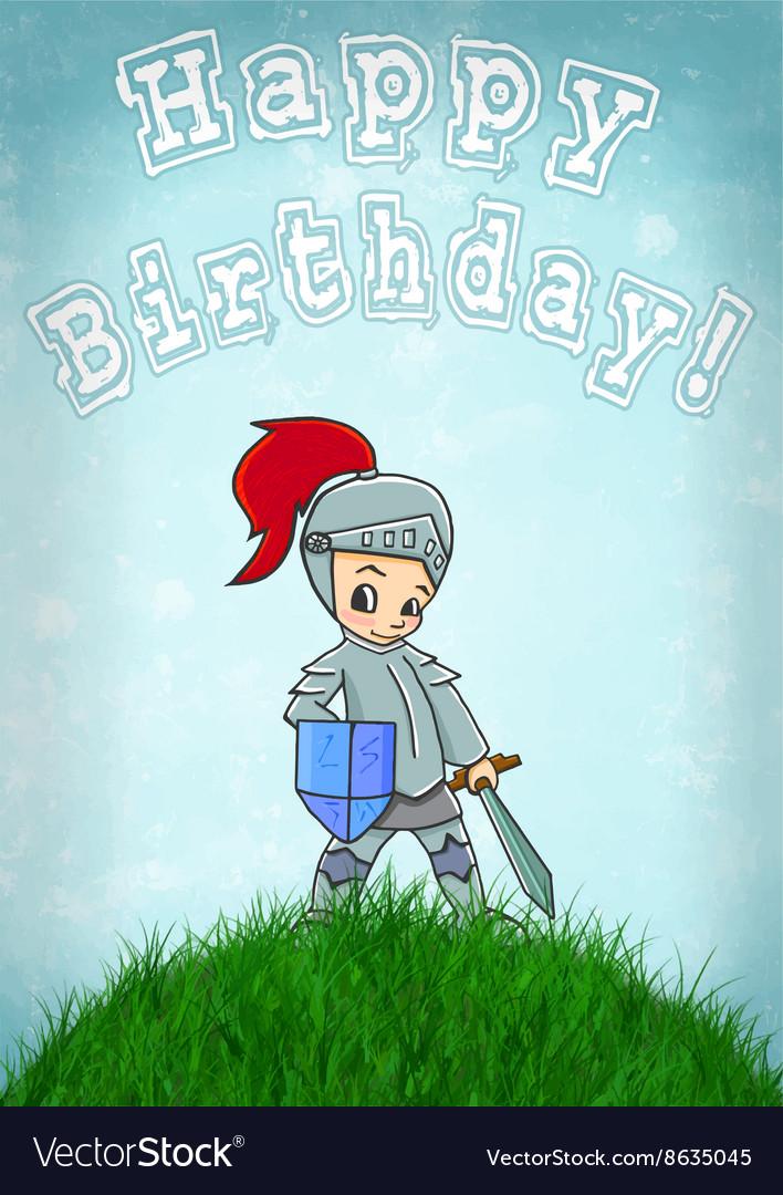 Knight card happy birthday