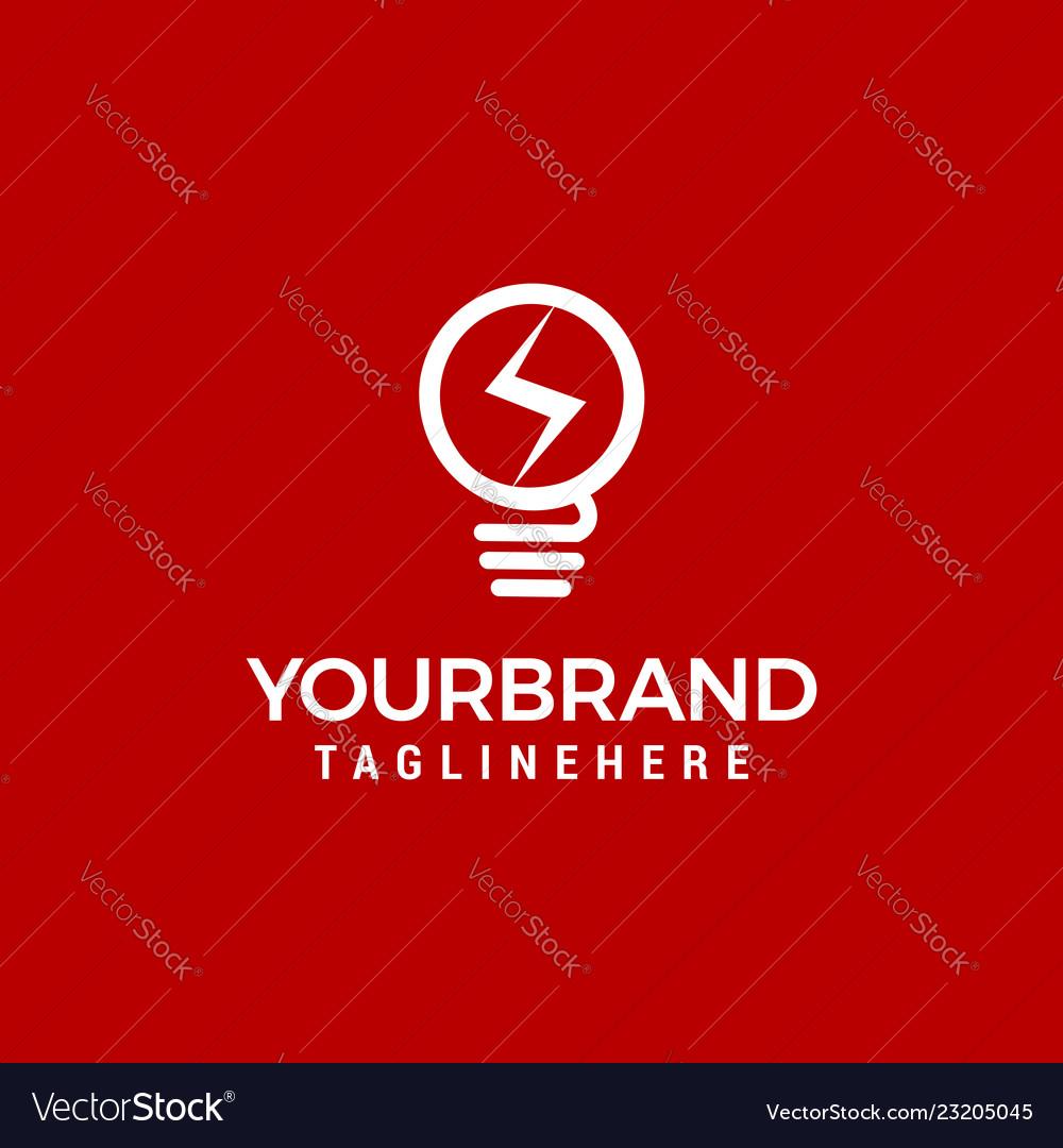 Lamp bulb logo icon set template