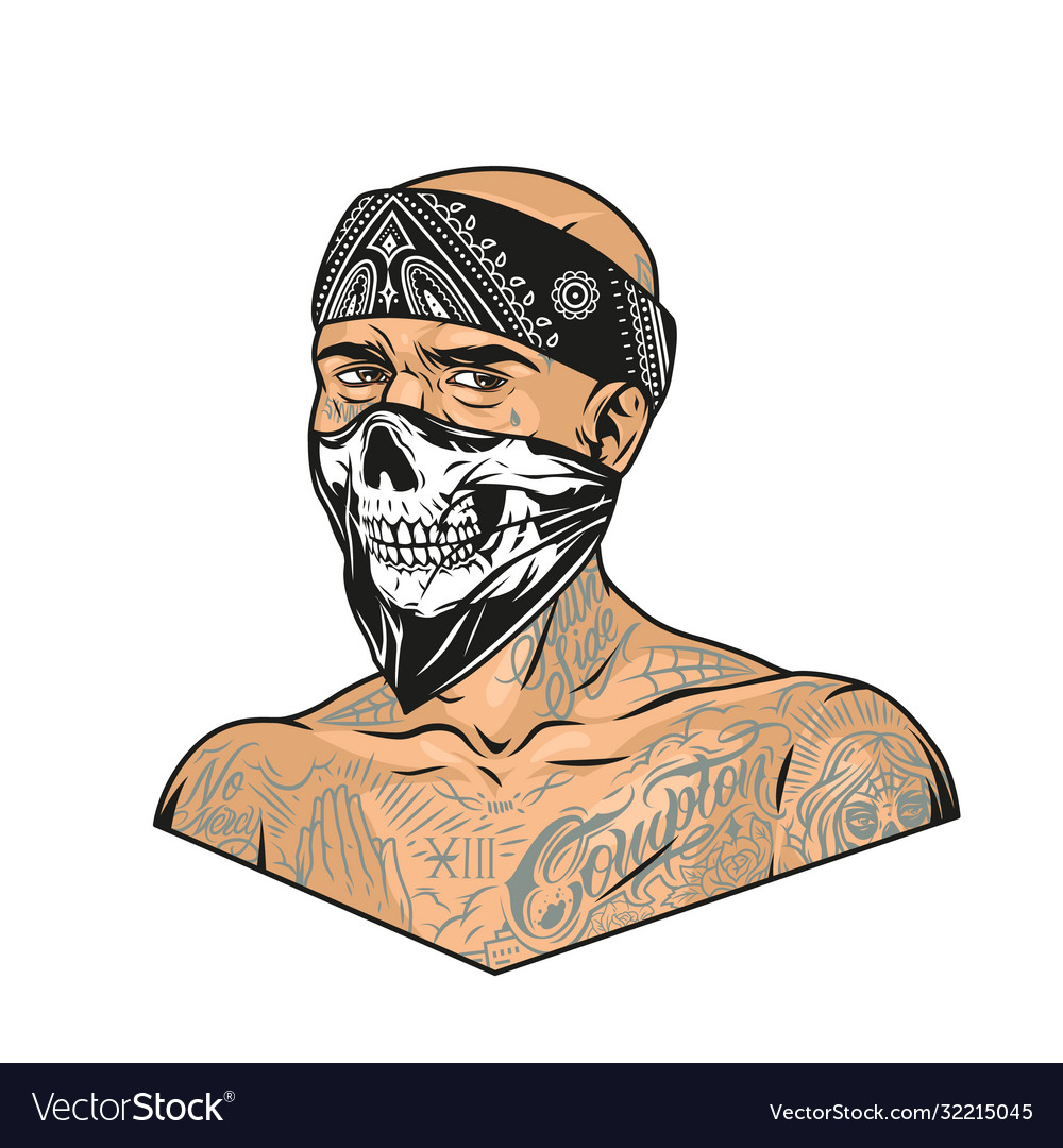 Man with chicano tattoos