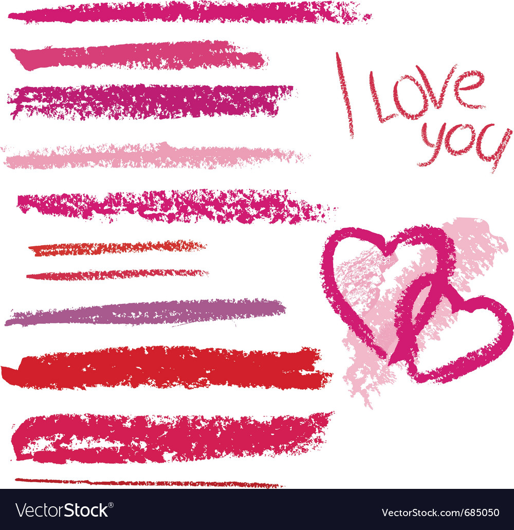 Brush made by line lipstick vector image