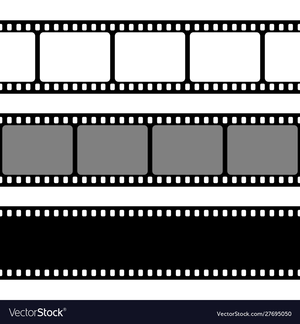 Film strips collection old retro cinema strip