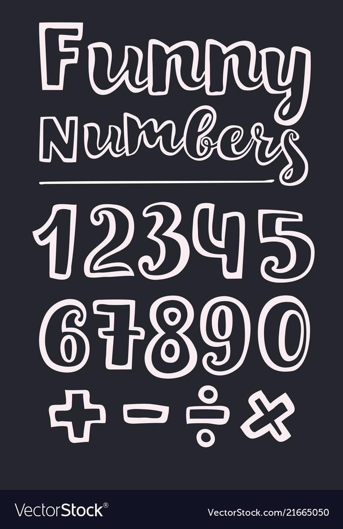 Handwritten style numbers