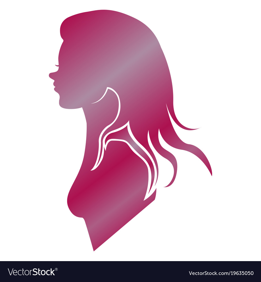 Isolated woman silhouette vector image