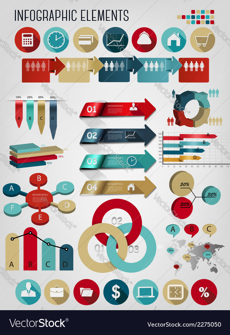 Set of business infographics elements