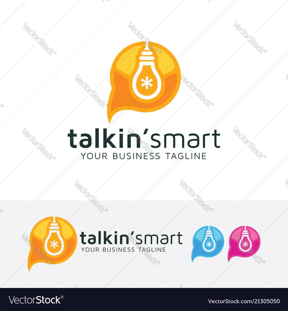 Talking smart logo design