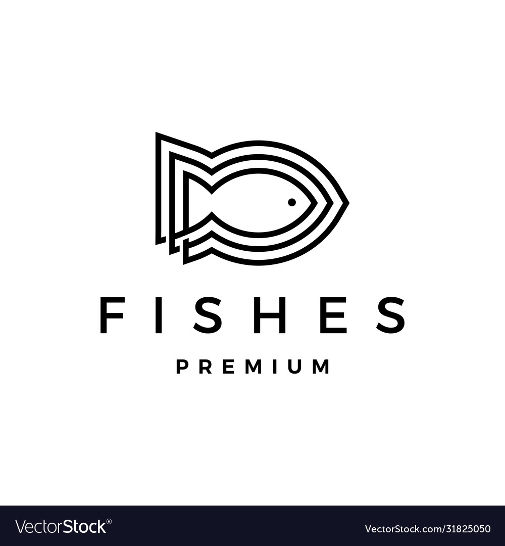 Three fishes logo icon