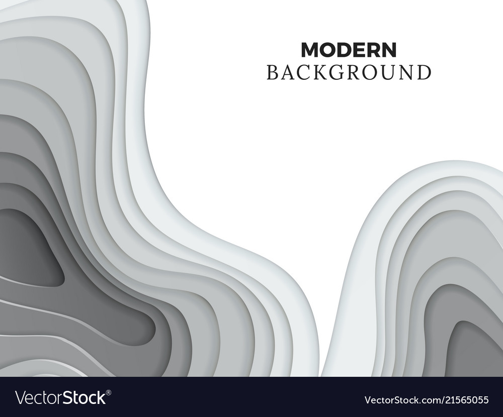 Abstract modern backdrop template with grey paper