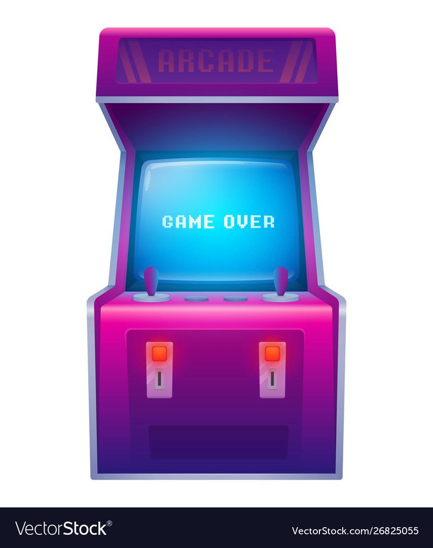 Arcade Machine Retro Arcade Game Machine Vector Image