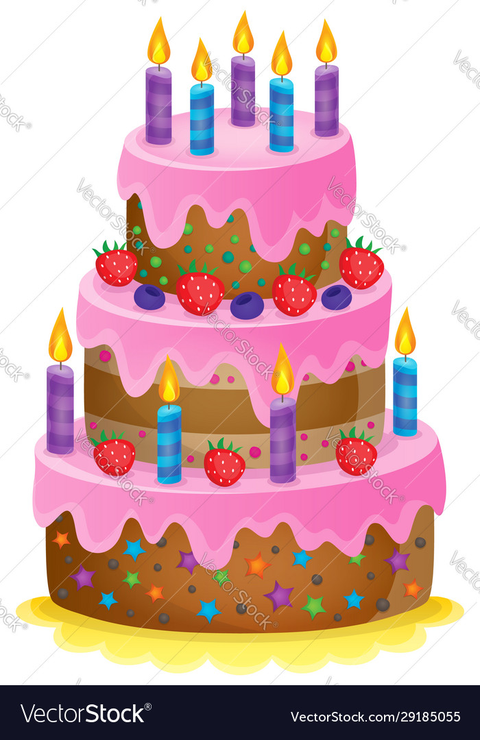 Superb Birthday Cake Theme Image 1 Royalty Free Vector Image Personalised Birthday Cards Beptaeletsinfo