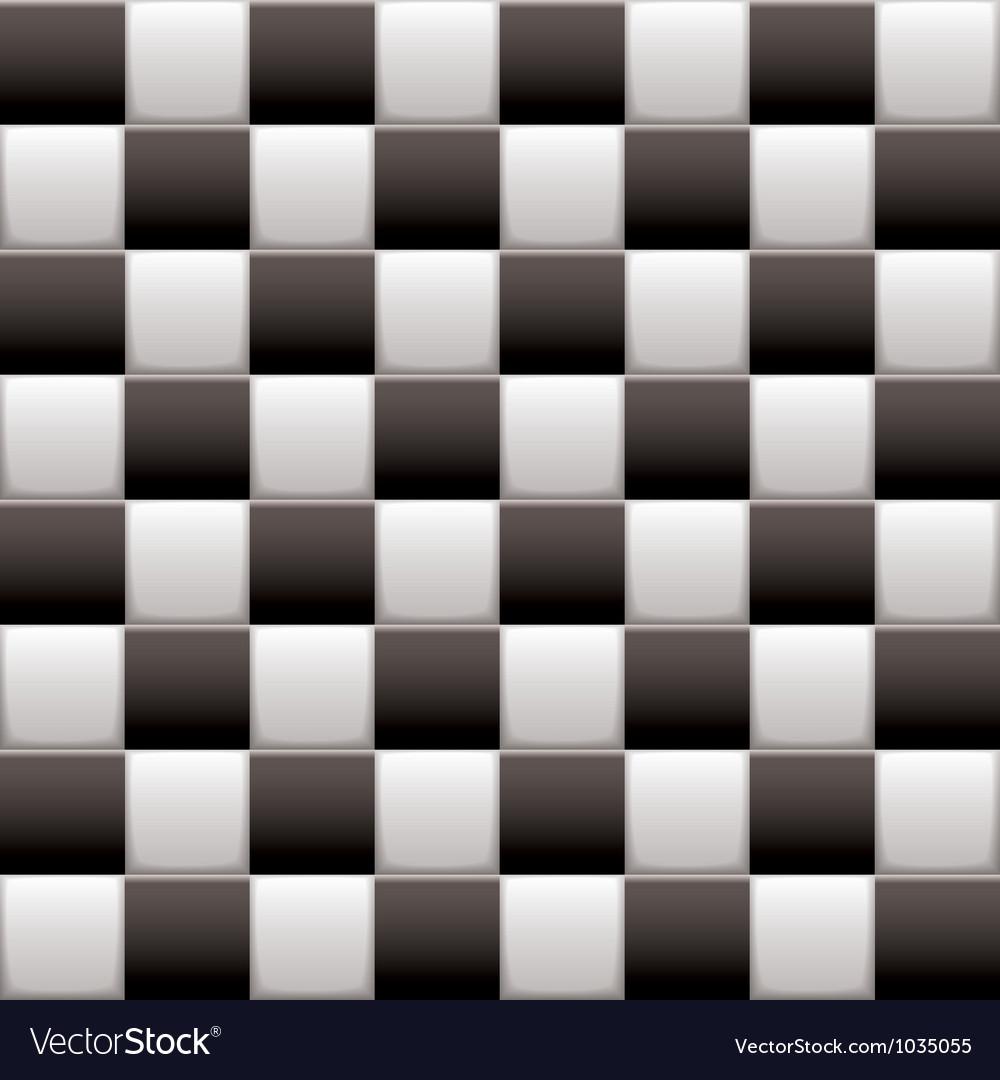 Checkered black n white vector image