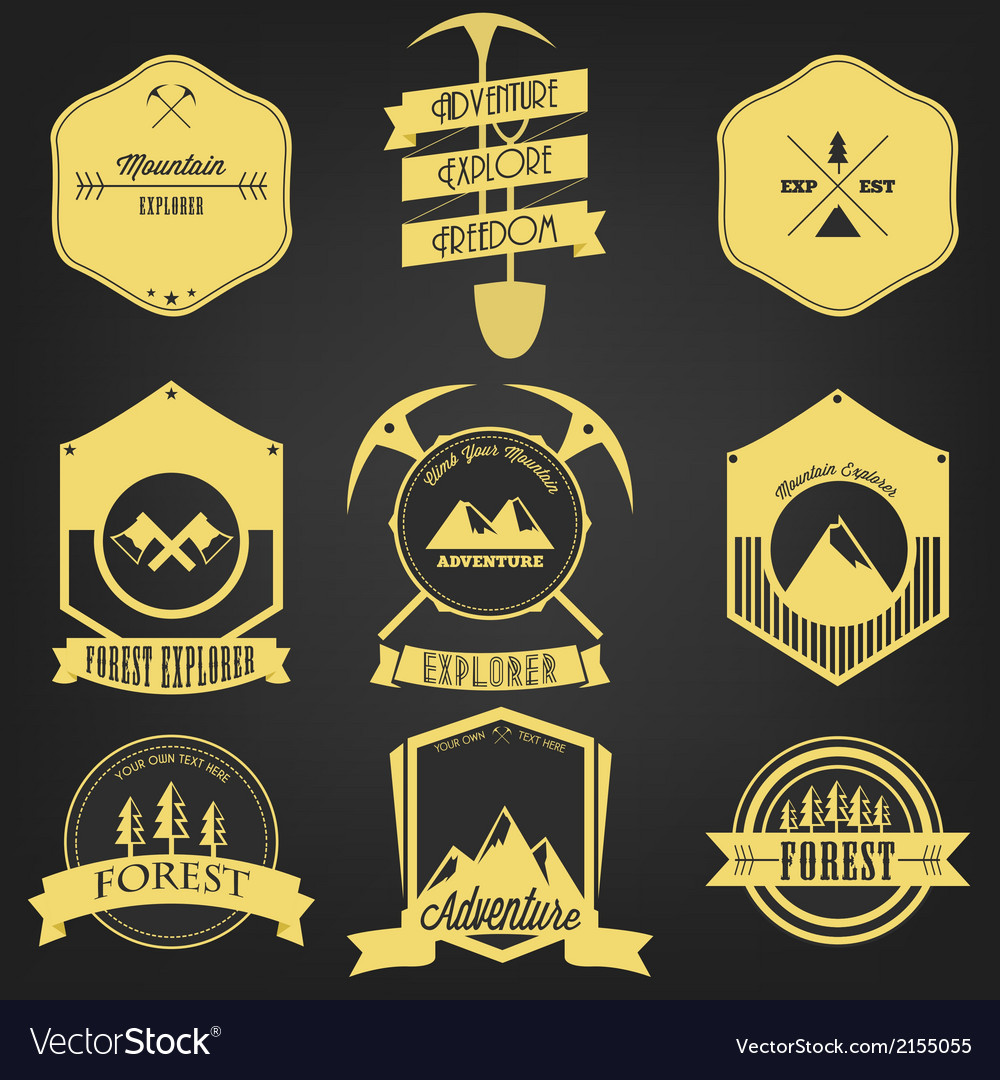 Explorer Adventure Vintage Label vector image