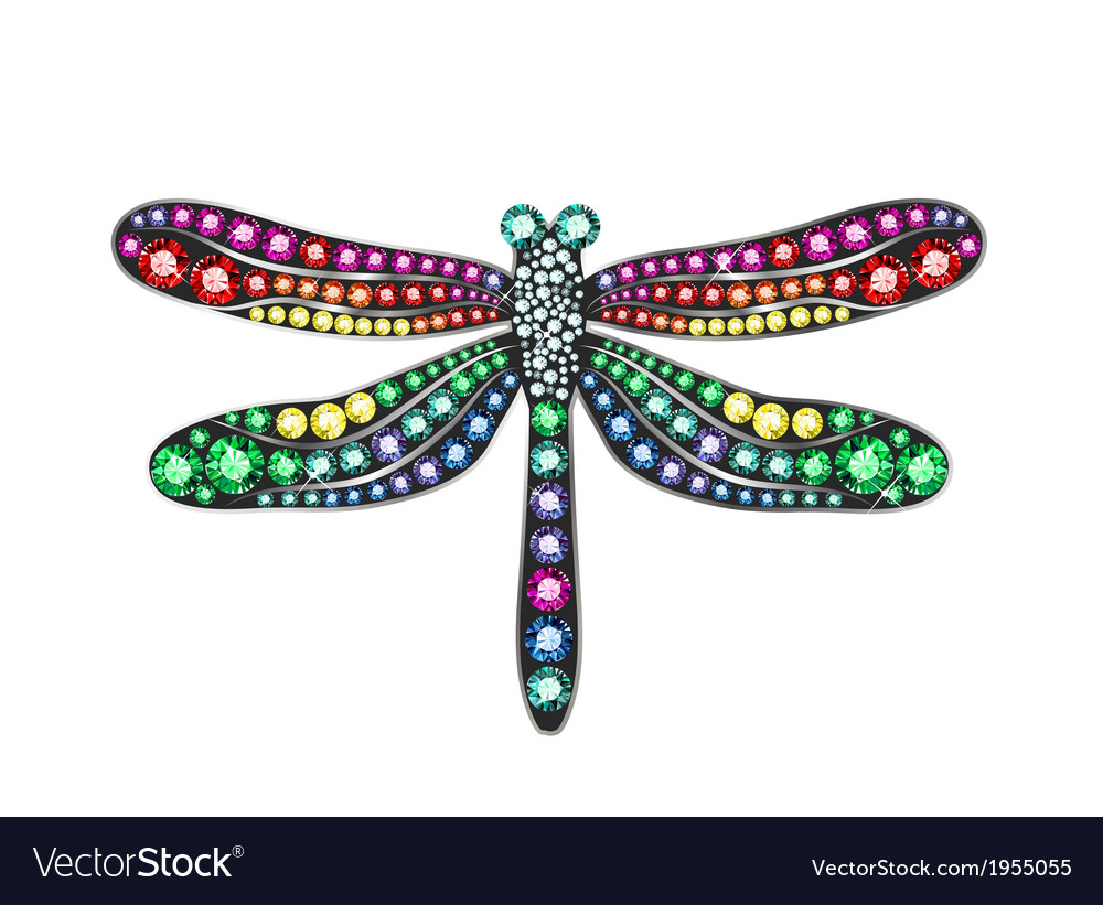 gem dragonfly royalty free vector image vectorstock rh vectorstock com dragonfly vector free dragonfly vectorial