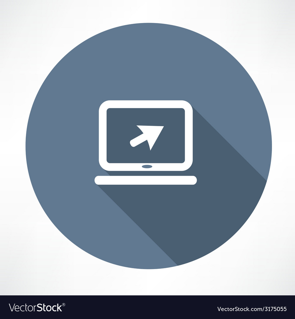 Laptop sign icon