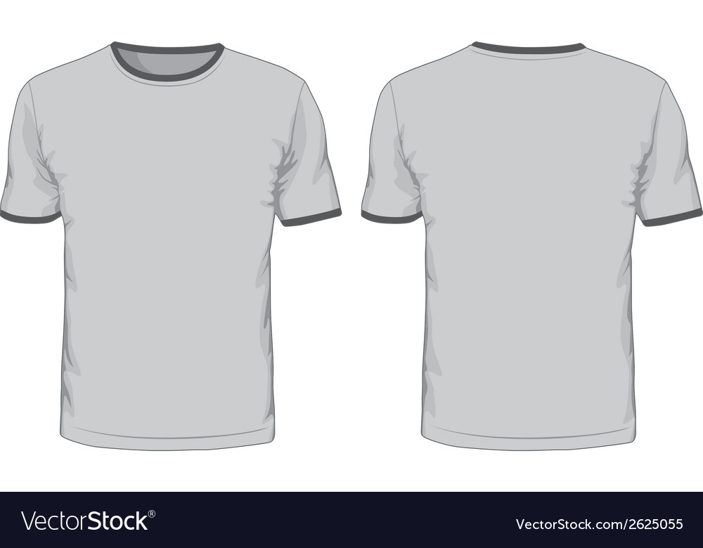 Mens T Shirts Template Front And Back Views Vector Image