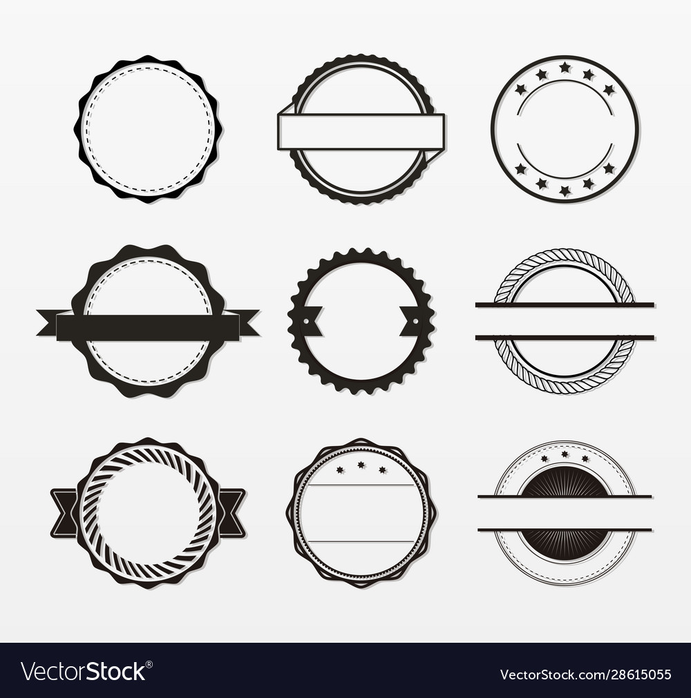 Variety decorative badges set