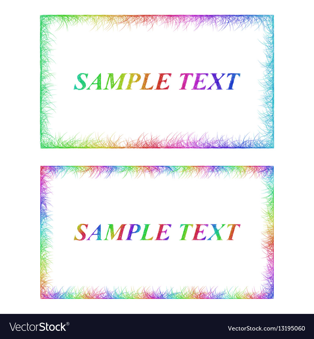 Business card border templates in rainbow colors vector image cheaphphosting