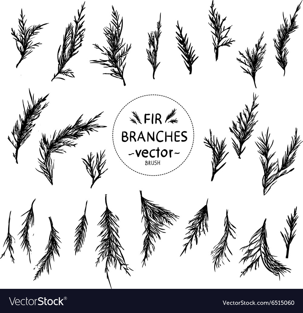 Decorative hand in the form of fir branches