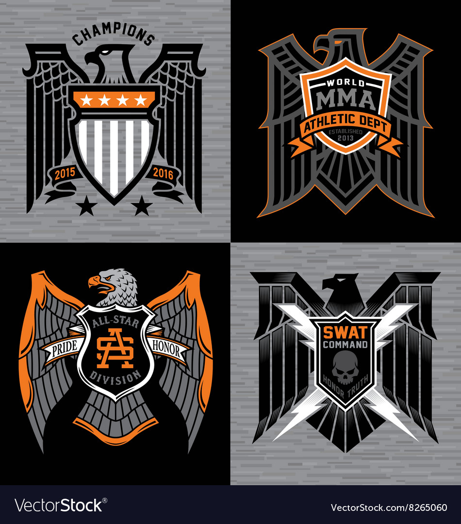 Eagle with shield crest graphics