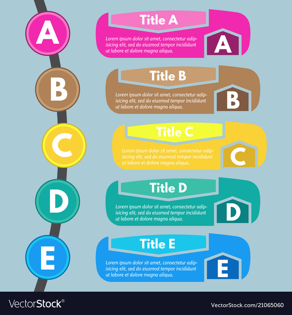 five steps infographic design elements royalty free vector