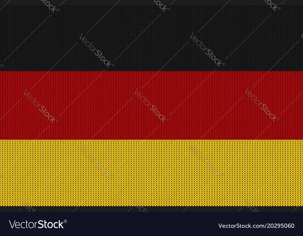 Flag of germany on a knitted woolen texture