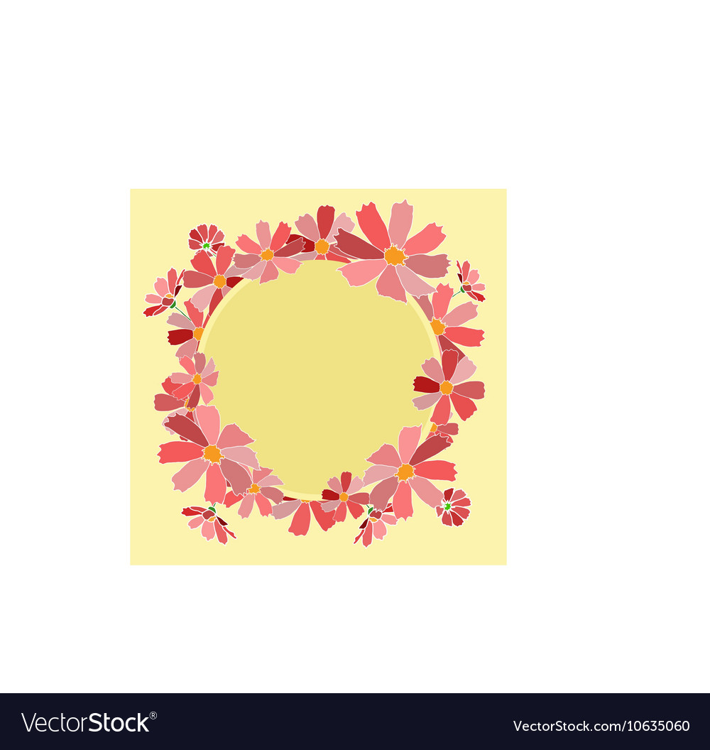 Flowers card save date vector image
