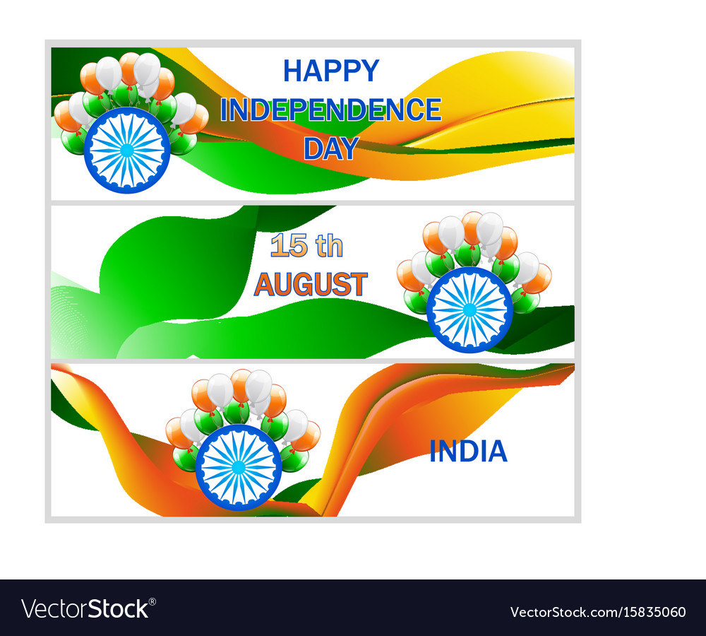 Independence day sale banner set sale header vector image