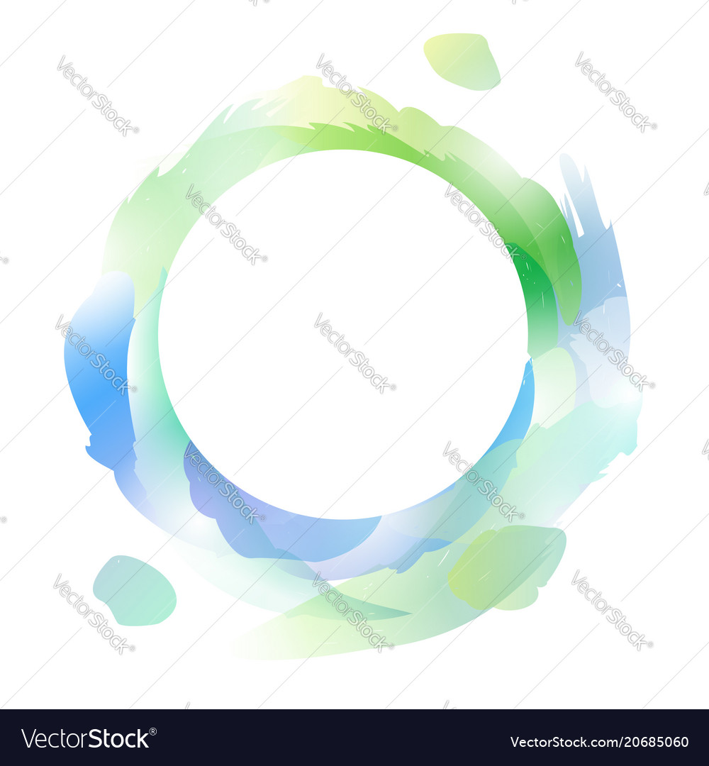 Round frame with multicolored strokes