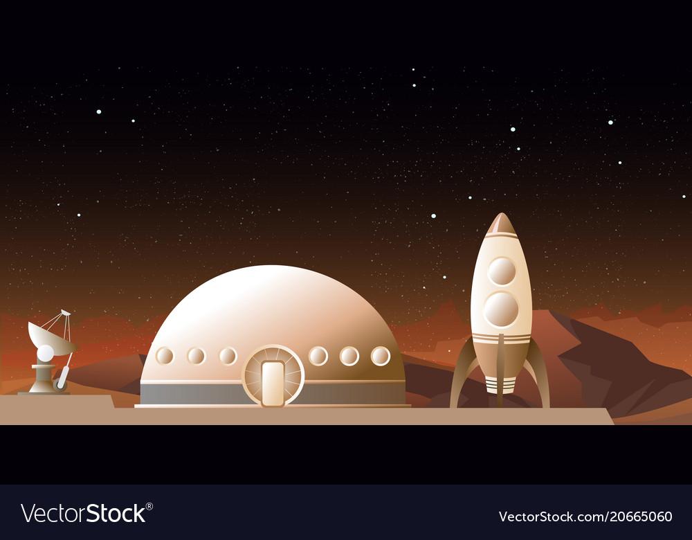 Spaceship on mars or